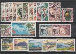 LOT 1519 POLYNESIE FRANCAISE  N° 1à11-13-14-17-30-31-32-33-34 ** - French Polynesia