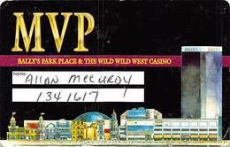 Bally's Park Place Casino Atlantic City NJ - Paper MVP Card Instructions - Casino Cards