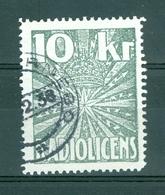 Sweden. Revenue Stamp 1938 Radio License Fee 10 Kr. Cancel - Other