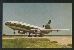 Pakistan Old PIA International Airline DC - 10 Airplanes Picture Postcard View Card - Pakistan