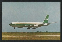 Pakistan Old PIA International Airline Boeing 707 Airplanes Picture Postcard View Card - Pakistan
