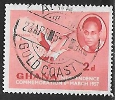 1957 Independence, 2p, Used - Ghana (1957-...)