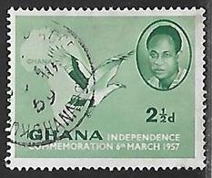 1957 Independence, 2-1/2p, Used - Ghana (1957-...)