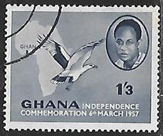 1957 Independence, 1sh3p, Used - Ghana (1957-...)