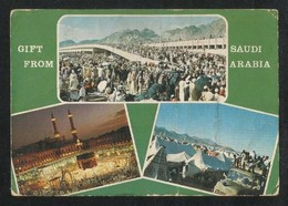 Saudi Arabia Old Picture Postcard Holy Mosque Ka'aba Mecca 3 Scene Islamic View Card - Saudi Arabia