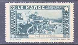 FRENCH  MOROCCO   LABEL  SAFI    * - Morocco (1891-1956)