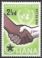 1958 United Nations, 2-1/2d, Mint Hinged - Ghana (1957-...)