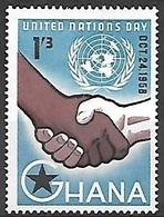 1958 United Nations, 1sh3d, Mint Hinged - Ghana (1957-...)