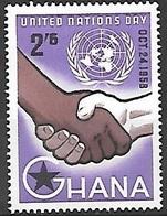 1958 United Nations, 2sh6d, Mint Hinged - Ghana (1957-...)