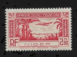 Niger 1940,Omnibus Air Mail 2.90fr,Scott # C2,XF Superb MNH**OG (FR-1) - Niger (1921-1944)