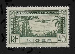 Niger 1940,Omnibus Air Mail 4.50fr,Scott # C3,XF Superb MNH**OG (FR-1) - Niger (1921-1944)