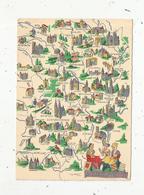 Cp , Carte Géographique , AUVERGNE , NIVERNAIS , BOURBONNAIS , LYONNAIS , VIERGE , Ed. D 1259 N - Maps
