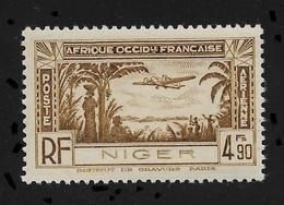 Niger 1940,Omnibus Air Mail 4.90fr,Scott # C4,XF Superb MNH**OG (FR-1) - Niger (1921-1944)
