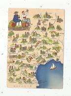 Cp , Carte Géographique , LANGUEDOC , FOIX ,ROUSSILLON , VIERGE , Ed. D 1259 S - Maps