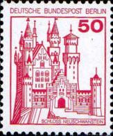 Berlin Poste N** Yv:499A Mi 536AI Yv:1 Euro Schloss Neuschwanstein (Dent 1 Peu Courte) (Thème) - Castles