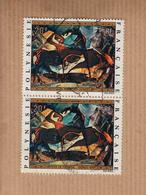 """POLYNESIE FRANCAISE    20F  """" Georges BOVY """"  La PAIRE   Oblitere  Scan  Recto-verso  POSTE AERIENNE 1972 - Poste Aérienne"""