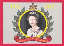Modern Post Card Of The Queen Elizabeth Ll Silver Jubilee,1952-1977,L47. - Royal Families