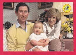 Modern Post Card Of Prince Charles And Lady Diana And Prince William,,L47. - Royal Families