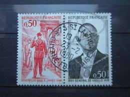 "VEND BEAUX TIMBRES DE FRANCE N° 1697 + 1698 , CACHET "" ST-LAURENT - GUYANE "" !!! - Guyane Française (1886-1949)"