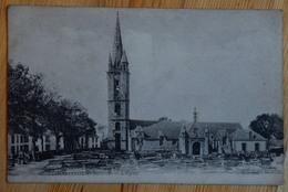 29 : Plougasnou - L'Eglise - Cimetière Au Premier Plan - (n°15621) - Plougasnou