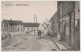 CPA 95 US Quartier De L' Eglise - France
