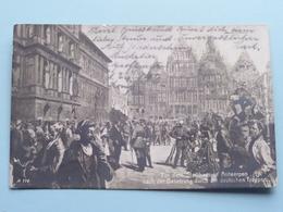 Vor Dem Stadthaus In Antwerpen Nach Der BESETZUNG Durch Die Deutschen Truppen ( A 114 - BF & C° ) 1914 ( Zie Foto's ) ! - Guerre 1914-18