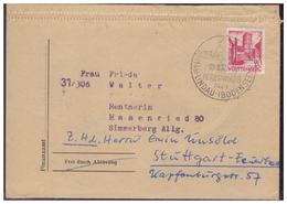 Franz.Zone (005936) Faltbrief Vordruck Aus Dem 3. Reich, Mit SST Lindau Herbstwoche Gelaufen Am 9.9.1948 - Französische Zone