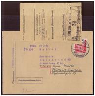 Franz.Zone (005938) Faltbrief Vordruck Aus Dem 3. Reich, Mit Tagesstempel Lindau Vom 23.4.1948 Und Zahlschein!! Vom 4.5. - Französische Zone