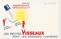 Buvard 19.5 X 12.5 Ampoule électrique VISSEAUX Supervisseaux à Filament Bi Spiralé - Electricity & Gas