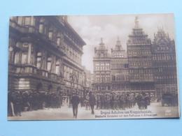 Deutsche Soldaten Vor Dem Rathause In ANTWERPEN ( Original -Aufnahme / MKB 6010 ) 19?? ( Zie Foto's ) ! - Guerre 1914-18