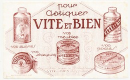 Buvard 15.9 X 9.9 VITE ET BIEN Pour Astiquer Cuivres, Meubles, Poëles, Chaussures - Wash & Clean