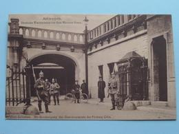 Deutsche WACHTPOSTEN Vor Dem Museum Steen ANTWERPEN ( Original -Aufnahme ) 19?? ( Zie Foto's ) ! - Guerre 1914-18