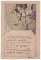 CPA Femme Art Nouveau Style Mucha Kirchner Avec Poème - Ilustradores & Fotógrafos