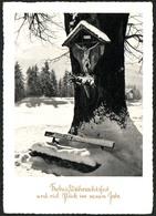 B9277 - Glückwunschkarte - Weihnachten - Winterlandschaft Bildstock - Lang Meisterbild Tiefdruck - Noël