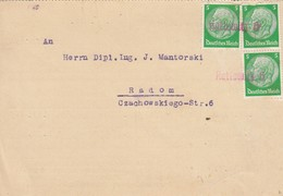 GG Frühe Post: Kattowitz Nach Radom II.40 - Occupation 1938-45