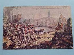 EINZUG Der Deutschen In ANTWERPEN 9 Okt 1914 ( Offiziele Postkarte Fus Das Rote Kreuz,...... ) 1915 ( Zie Foto's ) ! - Guerre 1914-18