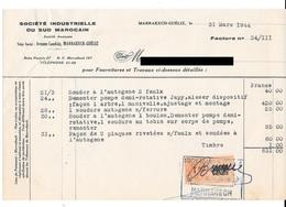 Timbre Fiscal De 1fr Sur 80. N°118 Chez Duston. (Voir Commentaires) - Maroc (1891-1956)