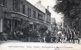 Chatenay. Tabac-Cinéma-Restaurant De La Route De Versailles. (Très Animée). - Chatenay Malabry