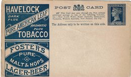 CTN54A - AUSTRALIE VICTORIA EP CP REPIQUAGE HAVELOC LAGER BEER NEUVE - Lettres & Documents