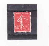 FRANCE    1924-32  Y.T. N° 199f  Rouge écarlate  NEUF*  Charnière Ou Trace - 1903-60 Semeuse A Righe