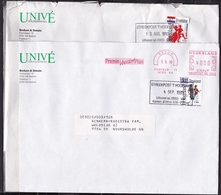 1993 STREEKPOST 't HOGELAND Op 2 Gelopen Vensterenveloppen 15 X 22 Cm Zegels 50 Ct Opraoakeldais En Klederdracht - Poststempels/ Marcofilie