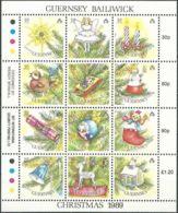 GUERNSEY 1989 Mi-Nr. 470/81 Kleinbogen ** MNH - Guernsey