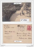 3964 AK/PC/CARTE PHOTO/N°696 BRESLAU EVENEMENT FANFARE 6 JUILLET 1913/TTB - Schlesien