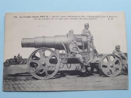 Mortier Austro-Allemùand De 320 - Photo Prise à Bruxelles....... ( A.R. - 171 ) Anno 19... ( Zie Foto's ) ! - Guerra 1914-18