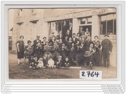 6590 AK/PC/ CARTE PHOTO 2764 RESTAURANT ST GERMAIN MUSICIENS ORCHESTRE - Cartoline