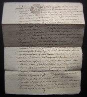 1782 Chizé Généralité De Poitiers, Vente Par Louis Doray Et Marie Brar Son épouse à Jacque Menon - Manuscripts