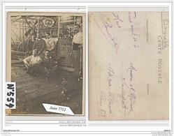 3832 AK/PC/CARTE PHOTO/N°554/DIRIGEABLE INTERIEUR 1913 - Dirigibili