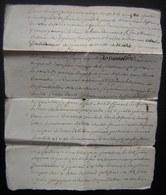 1791 Généralité De Poitiers, Document Concernant Jacques Brar (à Déchiffrer) - Manuscripts