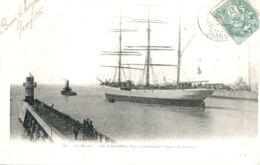 """N°66146 -cpa Le Havre -trois Mats """"cannebière"""" Coulé En 1916 Par Un Sous Marin Allemand- - Commerce"""