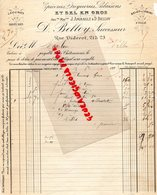 36- CHATEAUROUX- RARE FACTURE D. BELLOY- J. AMIRAULT- EPICERIE DROGUERIE SALAISONS SEL-21 RUE DIDEROT-1895 - France